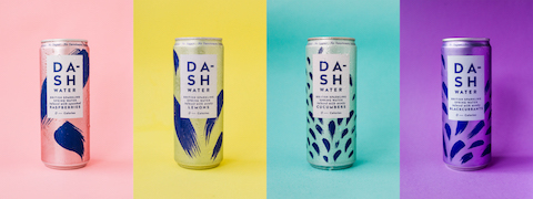 Dash range of sparkling water infused with wonky fruit and vegetables