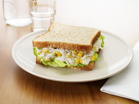 Fancy chicken sandwich