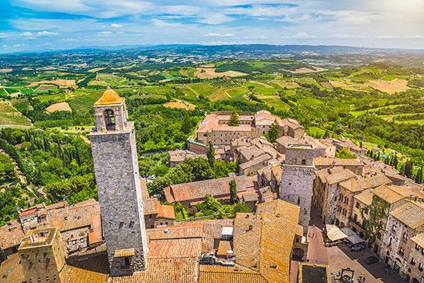 Historic town of San Gimignano, Tuscany, Italy