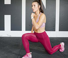 A woman lunging