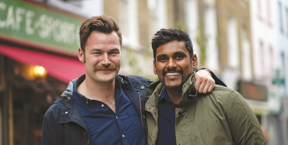 Representatives from Yarra Leisure and the other businesses teaming up for Movember