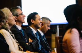 IRF delegates listening to presentations
