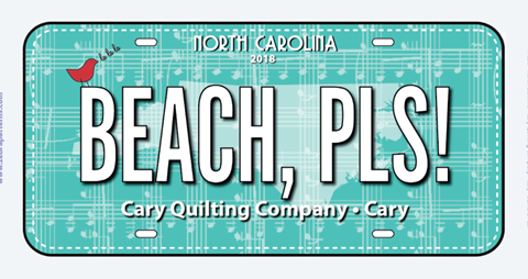 Beach, Pls fabric plate