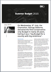 Summer Budget Highlights
