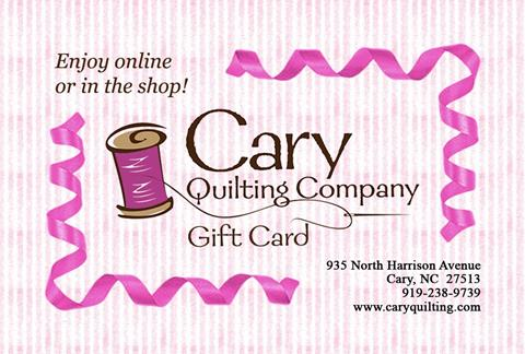 Gift Card Sale at Cary Quilting