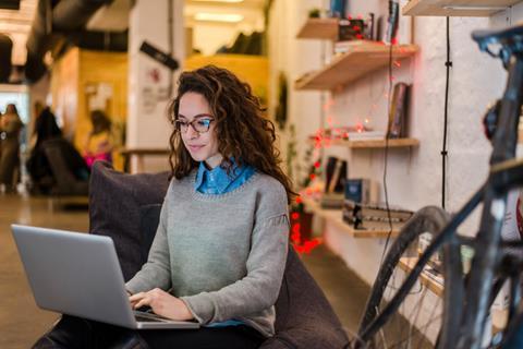 Entrepreneur working