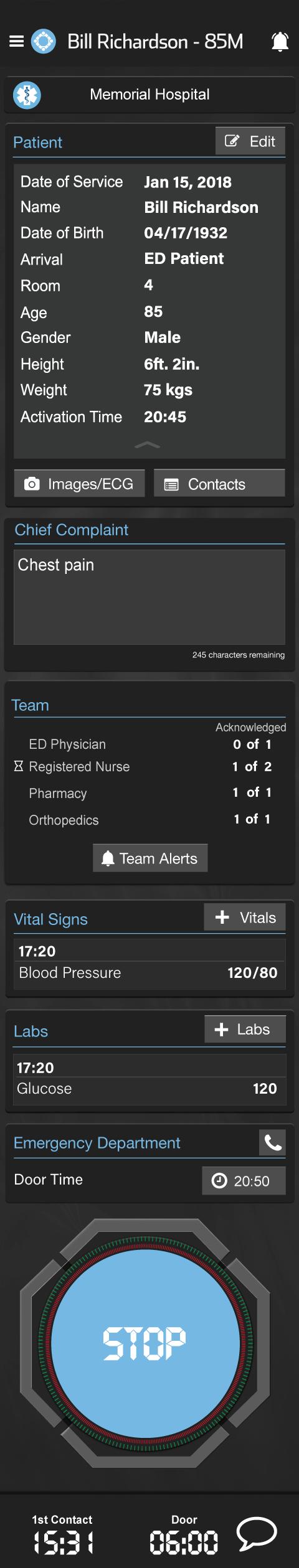 General Patient Screen