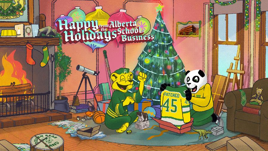School of Business Happy Holidays graphic