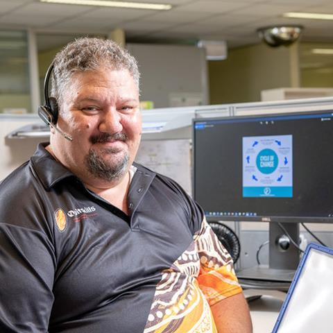 Quitline counsellor Karl