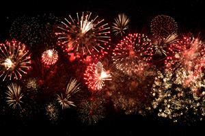 Image of a fireworks display