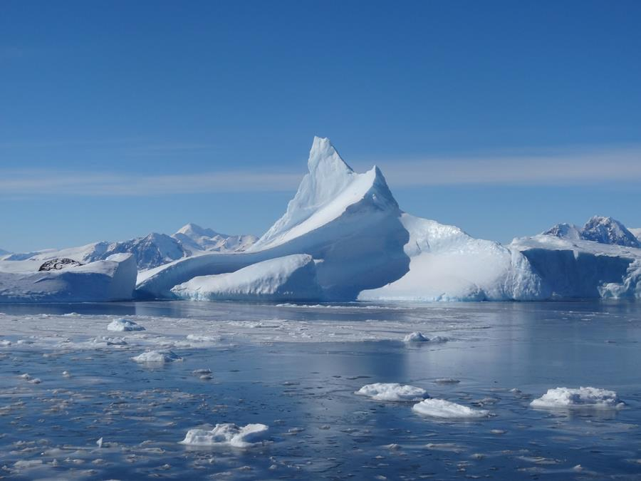 Iceberg Floating Past Rothera Research Station - Antarctic Peninsula - Photo by Jonathan Kingslake