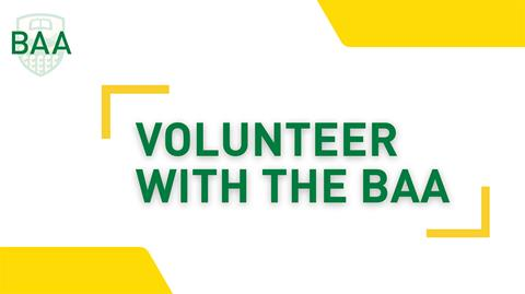 volunteer with the baa graphic
