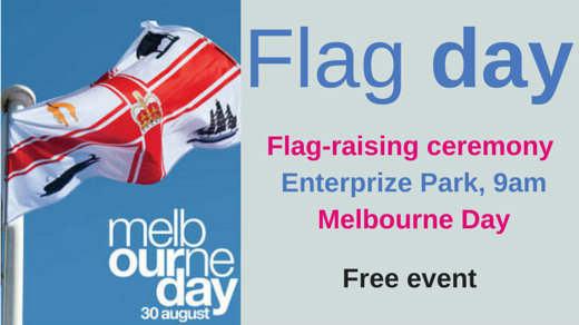 Melbourne Day flag raising ceremony