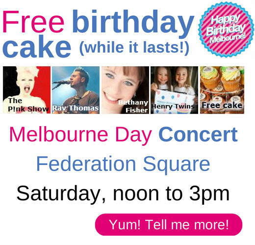 Let's get the party started at Federation Square on Melbourne Day from noon.