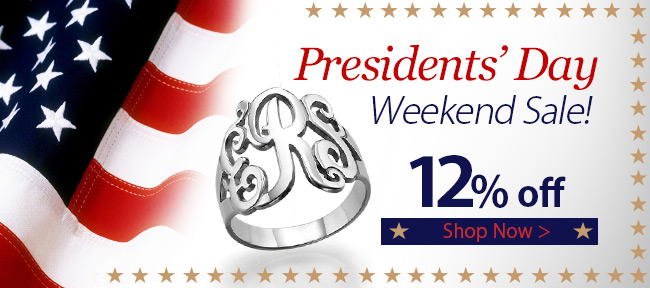 Get 12% off our ENTIRE Presidents' Day Collection! Use promo code PRESIDENT and get 12% off!
