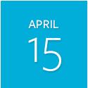 Tuesday, April 15 6:30–8:30 p.m.