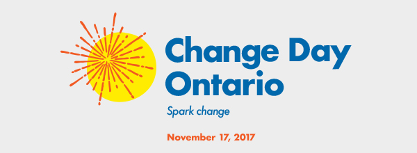 Logo: Change Day Ontario, Spark Change, November 17, 2017