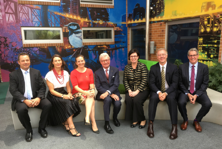 Governor of Queensland with mater leadership team