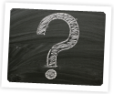 Photo of Chalkboard with question mark