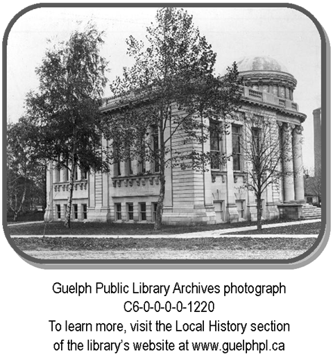Archives Photo C6-0-0-0-0-1220 is a photo of the carnegie library on the corner of Norfolk and Paisley.