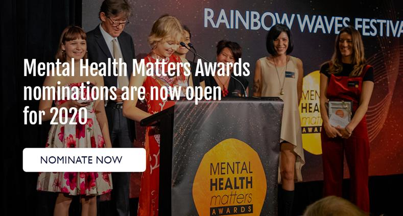 Mental Health Matters Awards nominations are now open for 2020