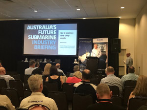 Naval Group's General Manager of Commercial and Contracts Shane Berry goes through the opportunities for Australian industry on the Future Submarine program. Credit: Naval Group