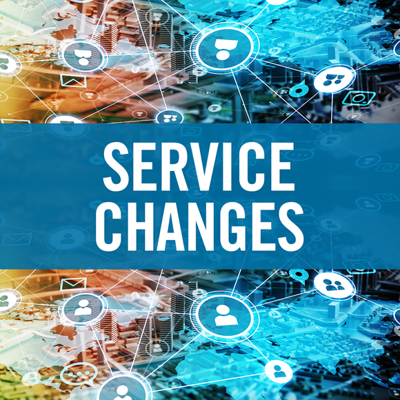 Service changes to Council services