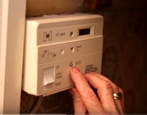 Photo of a heating control unit