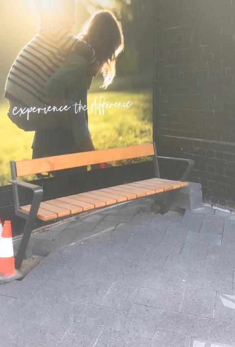 New paving and seat installed at Pirie St node