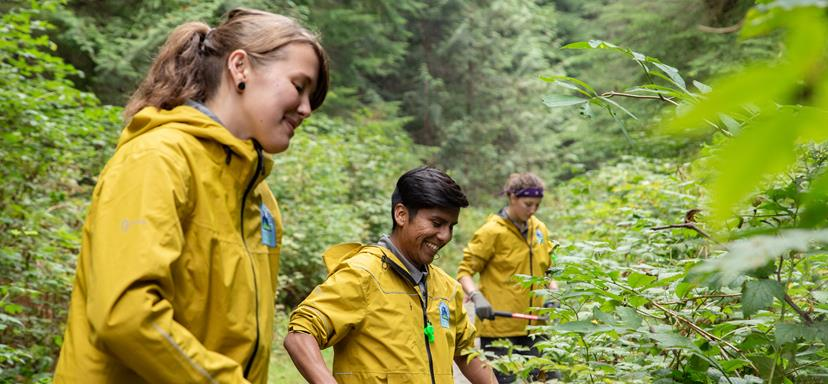 A photo of students participating in the BC Parks Student Ranger Program