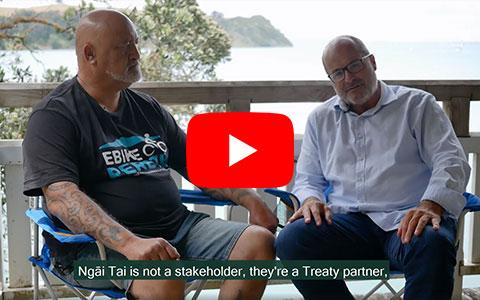 Director-General Lou Sanson and Ngāi Tai ki Tāmaki Tribal Trust Chair James Brown.