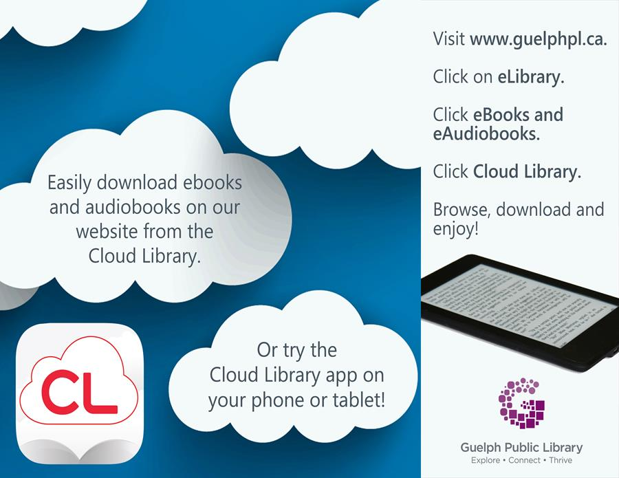 Easily download eBooks and eAudiobooks from Cloud Library with your library card. Download the app today!