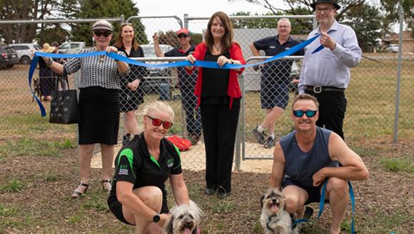 Mayor and Councillors at Kilmore dog park opening