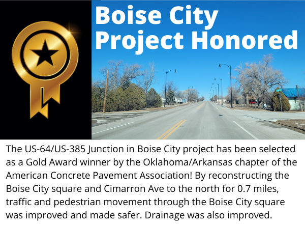 Boise City project honored