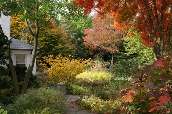 Fall color at garden in Pennsylvania