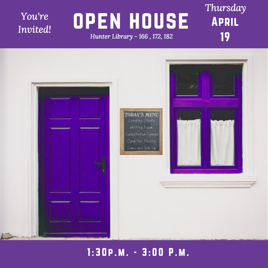 Come to the Open House on April 19, 2018 from 1:30-3:30 p.m.