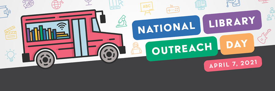 Advertisement for National Library Outreach Day on April 7