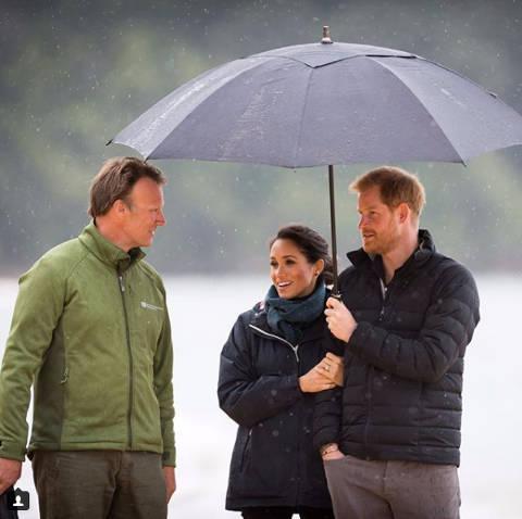 Royals visiting Abel Tasman National Park.