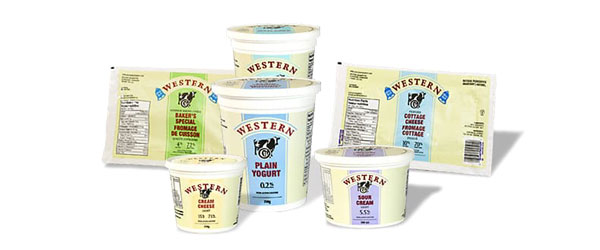 Family shot of Western Creamery products.