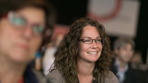 Woman at ESOF 2014
