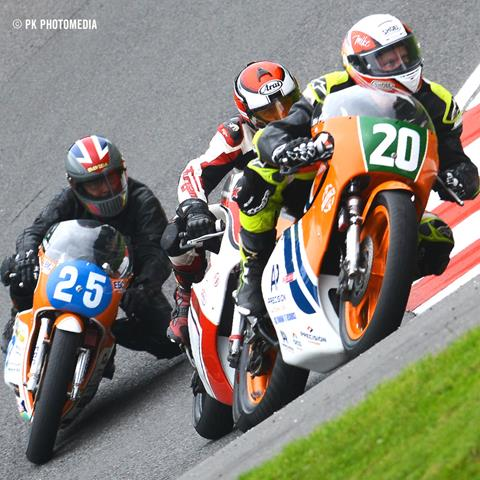 Grigson, Linton and English at the Mountain, Cadwell Park