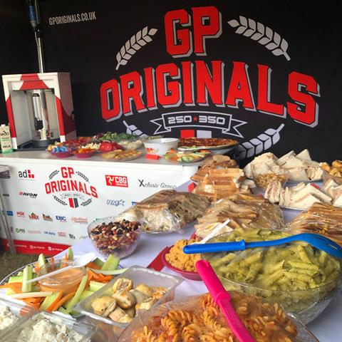 The GP Originals complimentary buffet at BSB Cadwell Park