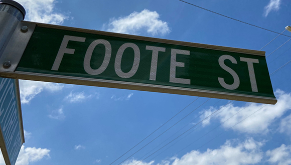 Street sign for Foote Street