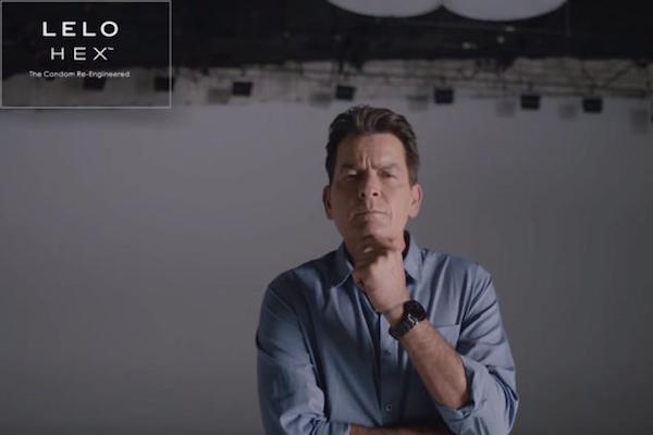 THE CONDOM NOW REINVENTED & WELL-FUNDED WITH LELO HEX AND CHARLIE SHEEN