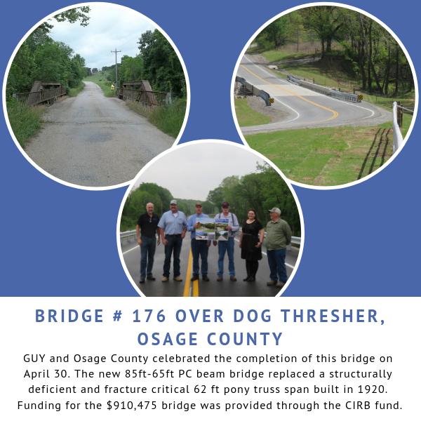 Ribbon cutting for Bridge # 176 over Dog Thresher Creek