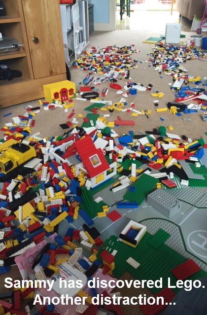 Lego-strewn floor