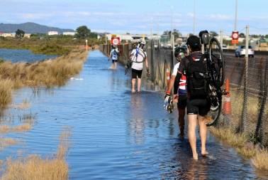 Flooded cycleway- NW Motorway Auckland – February 1 [KingTides Auckland web site]