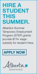 Ad: Alberta Government - Hire a student
