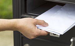 Mail in letterbox