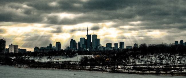 A view of Toronto from Riverdale Park